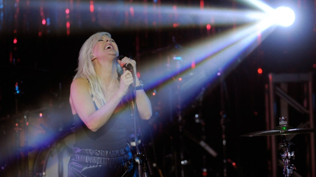 Ellie Goulding performs in Los Angeles on April 11, 2012.