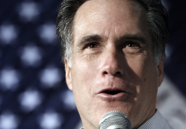 Republican presidential hopeful, former Massachusetts Gov. Mitt Romney, speaks to supporters during a campaign rally in Tampa, Fla., Tuesday, Jan. 29, 2008. (AP / LM Otero)
