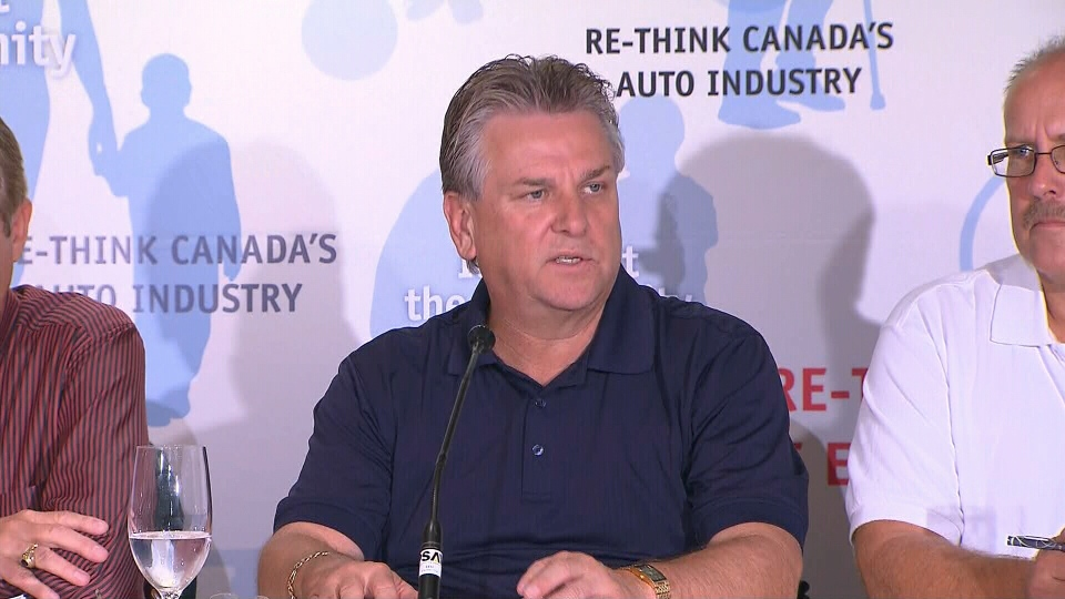 Canadian Auto Workers president Ken Lewenza announces a tentative deal with Ford during a press conference in Toronto on Monday, Sept. 17, 2012