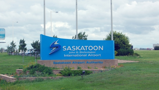 Saskatoon's airport was briefly evacuated Monday morning around 8:15 after fire alarms went off.