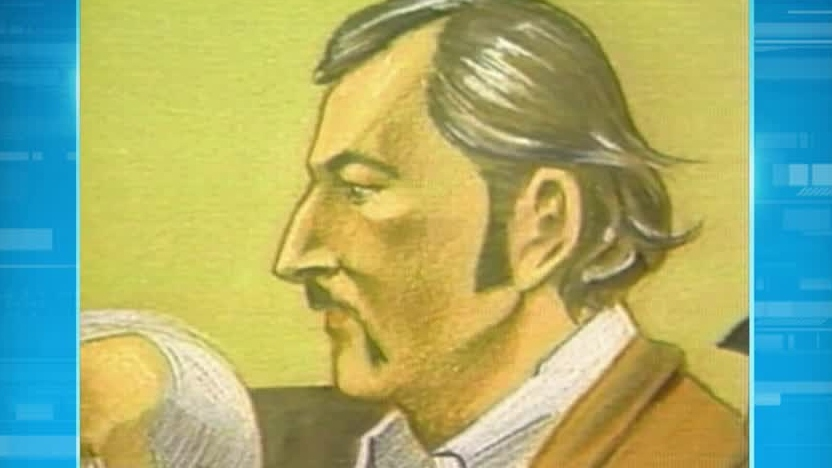 David Ennis is seen in this court sketch.