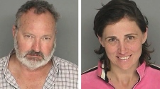 These booking photos provided by the Santa Barbara County Sheriff's Office shows actor Randy Quaid and his wife Evi Quaid. Police arrested the Quaids Saturday Sept. 18, 2010. (AP / Santa Barbara County Sheriff)