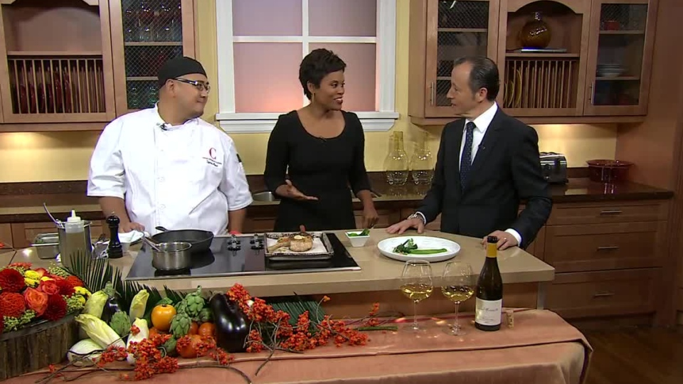 Centro restaurant owner Armando Mano (right) and executive chef Symon Abad (left) prepared a delicious veal dish on CTV's Canada AM on Sept. 19, 2012.