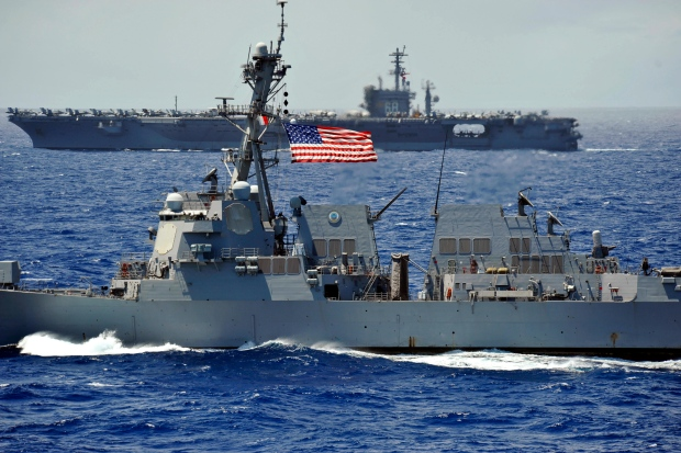 In a July 18, 2012 file photo provided by the U.S. Navy, the guided-missile destroyer USS Chung-Hoon