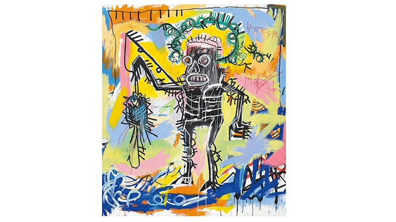 This undated photo provided by Christie's shows Jean-Michel Basquiat's 'Untitled 1981'
