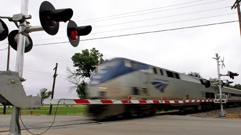 An Amtrak passenger train running between Portland, Ore., and Vancouver could be cancelled. Sept. 21, 2010. (AP Photo/Seth Perlman)
