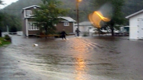 Roads are washed out in Harbor Mille, N.L. as Hurricane Igor slams ashore, Tuesday, Sept. 21, 2010.
