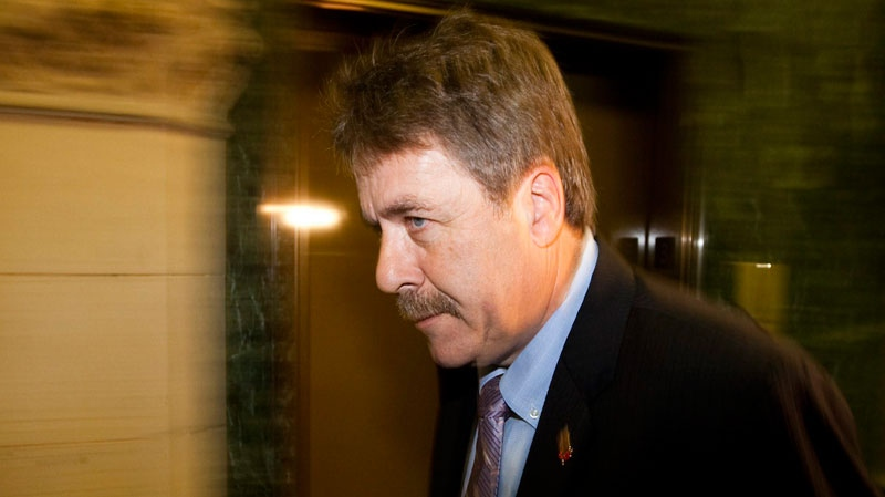 New Democratic Party Member of Parliament Peter Stoffer arrives to a caucus meeting on Parliament Hill in Ottawa on Wednesday Sept. 22, 2010. (Sean Kilpatrick / THE CANADIAN PRESS)