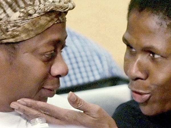 Loreena Small, mother of Jordan Manners who was shot dead at C.W. Jeffreys, is comforted by a family member after speaking during the debate in Toronto on Tuesday, Jan. 29, 2008. (J.P. Moczulski / THE CANADIAN PRESS)