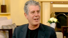 Anthony Bourdain, author of 'Medium Raw,' appears on CTV's Canada AM on Wednesday, Sept. 22, 2010.