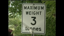Region of Waterloo officials say many motorists ignore the weight limit Sept. 21, 2012