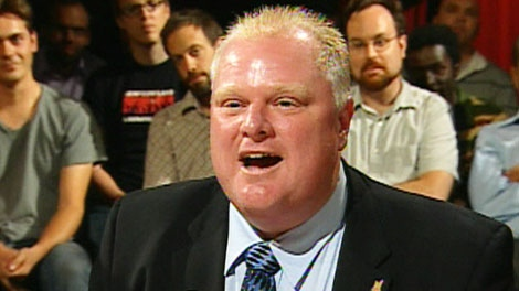 Mayoral candidate Rob Ford speaks during the CP24 debate on Tuesday, Sept. 21, 2010.