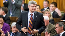 Prime Minister Stephen Harper votes in the House of Commons on Parliament Hill in Ottawa on Wednesday Sept. 22, 2010. (Sean Kilpatrick / THE CANADIAN PRESS)