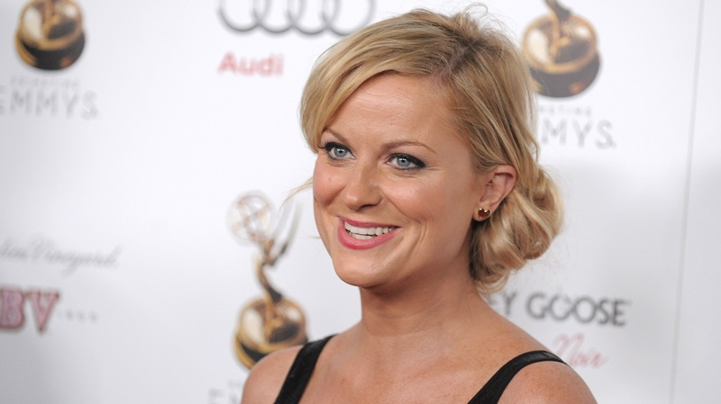 Amy Poehler attends the Emmy Awards Performers Nominee Reception at Spectra in West Hollywood on Friday, Sept. 21, 2012. (AP/Invision/Jordan Strauss)