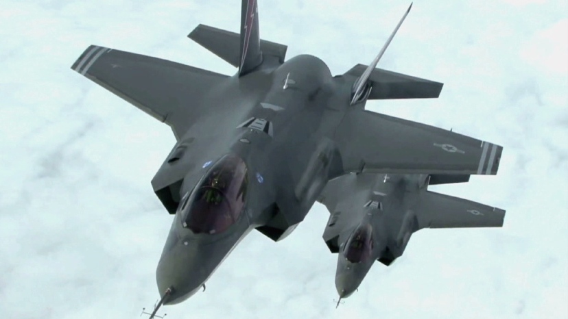 A pair of Lockheed Martin F-35 Joint Strike Fighters are shown in this undated handout photo.