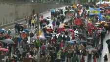 Montreal student protest