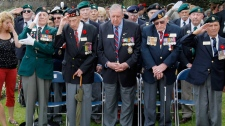 Canadian veterans in Dieppe, northern France on Aug. 19, 2012.