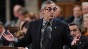 Treasury Board President Tony Clement responds to a question during Question Period in the House of Commons on Parliament Hill in Ottawa on Thursday, Sept. 20, 2012. (The Canadian Press/Sean Kilpatrick)