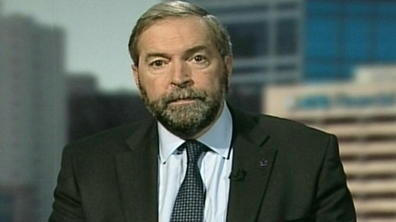 NDP Leader Thomas Mulcair speaks on CTV's Question Period on Sunday, Sept. 23, 2012.