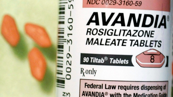 A bottle of Avandia pills at a Maximart Pharmacy in California. (AP / Paul Sakuma)