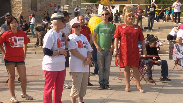 The Aids Walk for Life also included a number of family-friendly events taking place in Churchill Square.