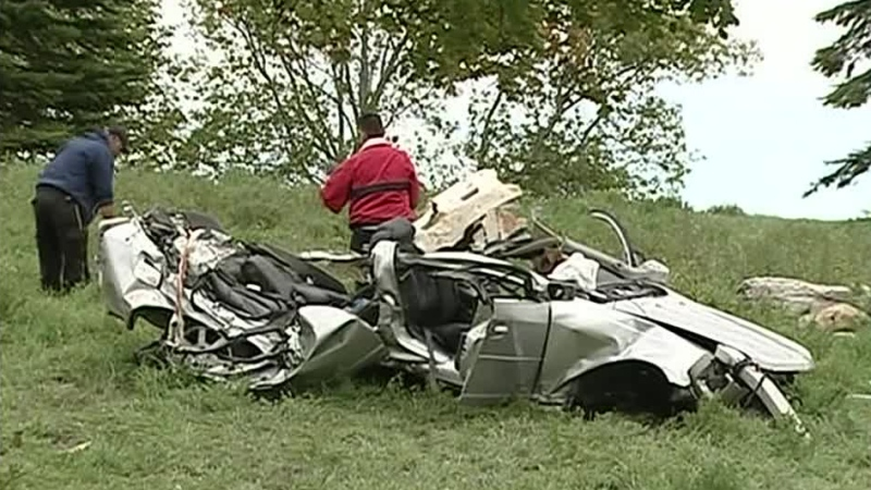 Menard was driving at roughly 200 kilometres per hour last September when he lost control of his Cadillac CTS on a rural road near Alexandria and slammed into a tree.