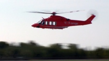 The new Ornge helicopters will be faster and be able to fly through storms.