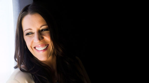 Pattie Mallette, mother of Canadian singer Justin Bieber, poses for a photograph in Toronto on Monday, Sept. 24, 2012. (The Canadian Press/Nathan Denette)