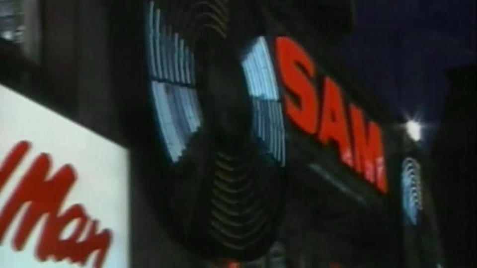 """In this undated photo, the flashing """"Sam the Record Man"""" sign in Toronto is pictured. (CTV News)"""