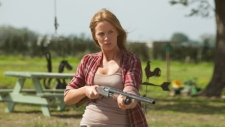 Emily Blunt in a scene from Alliance Films' 'Looper.'