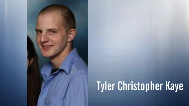 Tyler Christopher Kaye is shown in an undated photo. Supplied.