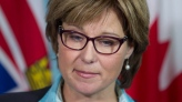 Former British Columbia premier Christy Clark pauses for a moment during a news conference in Vancouver, Monday, September 24, 2012. THE CANADIAN PRESS/Jonathan Hayward