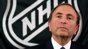 NHL hockey commissioner Gary Bettman listens as he meets with reporters after a meeting with team owners, in New York, Thursday, Sept. 13, 2012. (AP / Mary Altaffer)