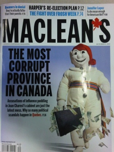 The latest cover of Maclean's magazine is making waves in Quebec.
