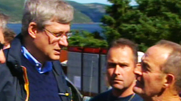 Prime Minister Stephen Harper visited two of the hardest hit communities in the region, Trouty and Britannia, Friday, Sept. 24, 2010.