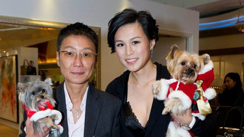 Sean B. Eav, left, and Gigi Chao (from Chao's Facebook page)