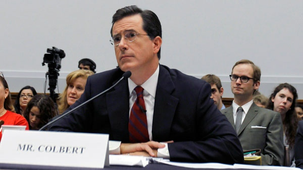 Comedian Stephen Colbert, host of the Colbert Report, testifies on Capitol Hill in Washington, Friday, Sept. 24, 2010 (AP / Alex Brandon)