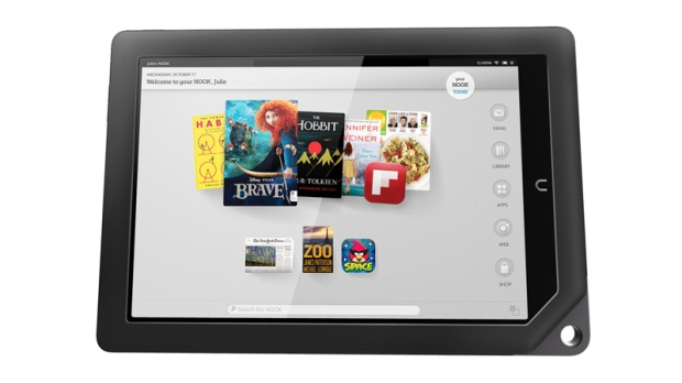 This undated image provided by Barnes & Noble shows one of the two new Nook tablets.