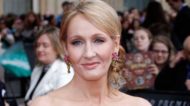 JK Rowling in Trafalgar Square, London on July 7, 2011.