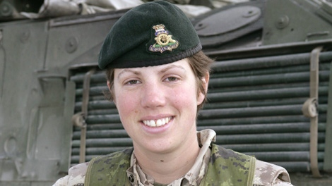 Capt. Nichola Goddard, of 1st Royal Canadian Horse Artillery based in Shiloh, Man., is seen in this military handout photo. (THE CANADIAN PRESS / Canadian Armed Forces)