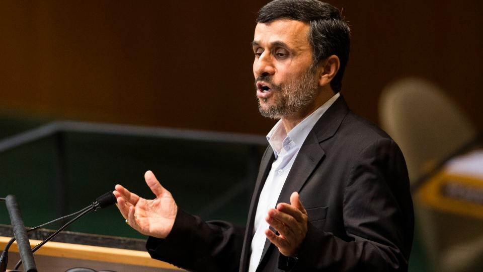 Iranian President Mahmoud Ahmadinejad addresses the 67th United Nations General Assembly, at U.N. headquarters, Wednesday, Sept. 26, 2012. (AP / John Minchillo)