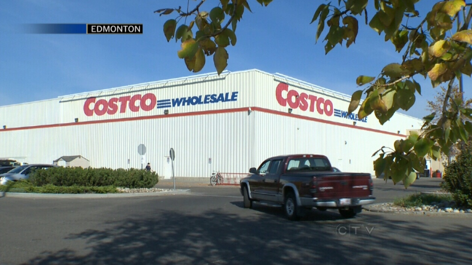 The outside of a Costco store in Edmonton is seen in this undated image