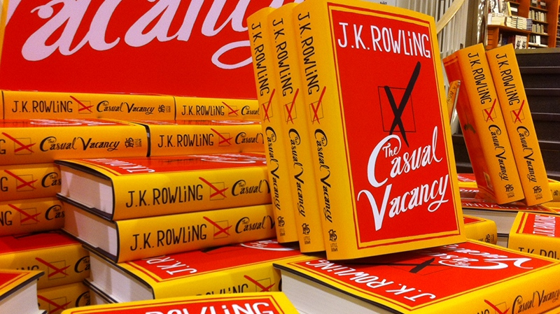 J.K. Rowling's first book for adults, 'The Casual Vacancy,' on display at a bookstore in Toronto, Thursday, Sept. 27, 2012. (Tom Stefanac / CTV News)