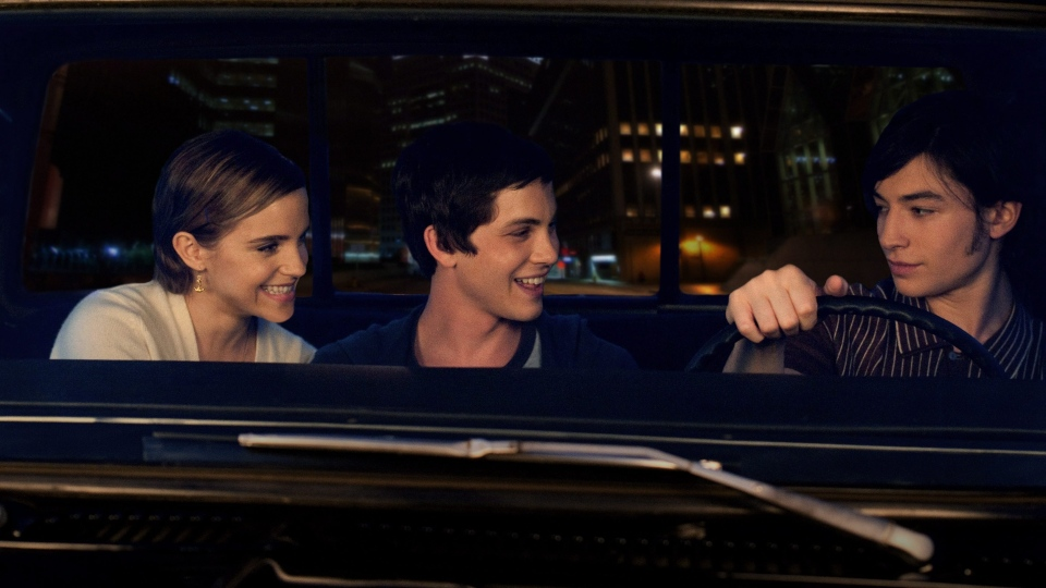 Emma Watson, Logan Lerman, and Ezra Miller in a scene from the film version of 'The Perks of Being a Wallflower.' A B.C. father wants the book removed from classrooms due to what he says is its vulgar nature.