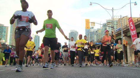 Thousands took part in the Scotiabank Toronto Waterfront Marathon on Sunday, Sept. 26, 2010.