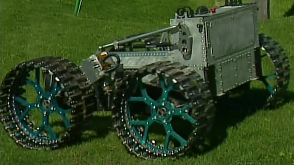 A working prototype of the lunar rover is seen at Ontario Drive and Gear in New Hamburg, Ont. on Thursday, Sept. 26, 2012.