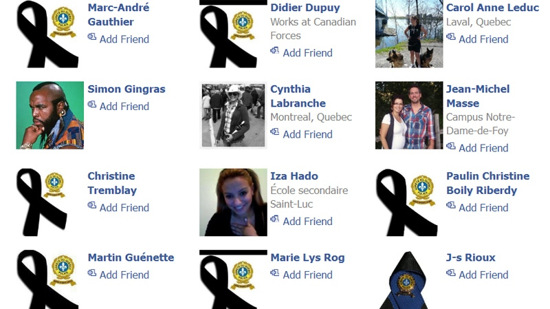 Man of the young victim's Facebook friends changed their profile images to a black ribbon to reflect their sadness at her loss.