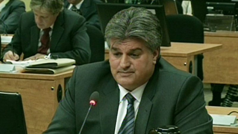 Lino Zambito testifies at Quebec's corruption inquiry on Sept. 27, 2012.