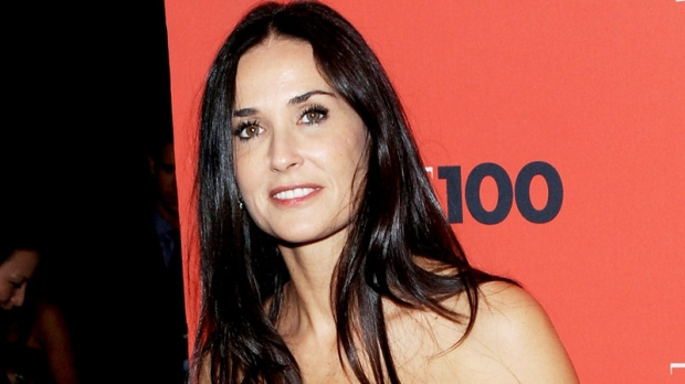 Actress Demi Moore is seen attending the TIME 100 gala celebrating the 100 most influential people at the Time Warner Center in New York, May 4, 2010. (AP / Evan Agostini)