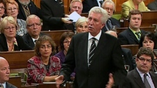 Bloc Quebecois Leader Gilles Duceppe questions the Tories over their plan to change the long-form census, during question period in the House of Commons on Parliament Hill in Ottawa, Tuesday, Sept. 28, 2010.
